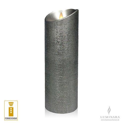 luminara led kerze 8 x 23 cm silber fernbedienbar kaufen luminara. Black Bedroom Furniture Sets. Home Design Ideas