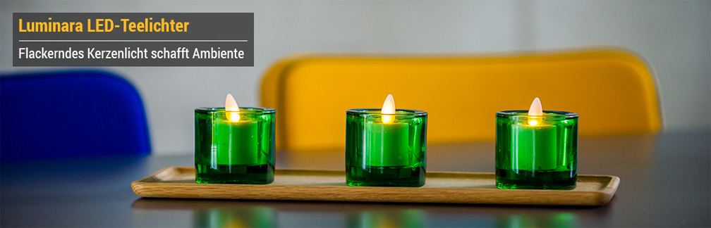 led sonderkerzen luminara. Black Bedroom Furniture Sets. Home Design Ideas