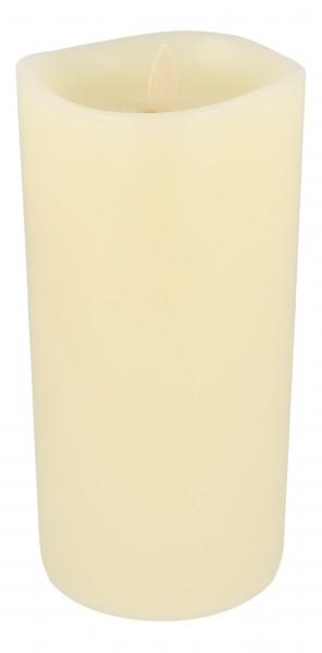 Luminara LED Duftkerze 10x20 cm elfenbein fernbedienbar glatt