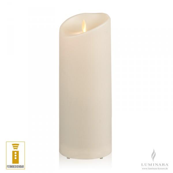 Luminara LED Kerze Outdoor 9x23 cm elfenbein fernbedienbar